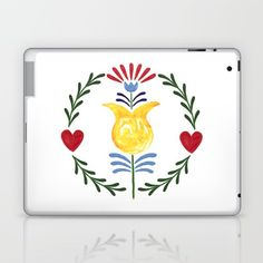 Folk Laptop & iPad Skin by Unicornlette | Society6