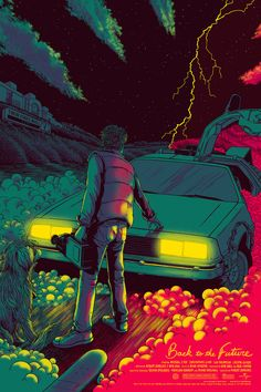 Back to the Future by James Flames. Celebrating 'Future Day'| mondotees.com