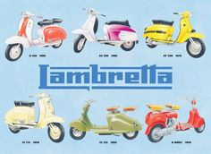 Lambretta collage  - Cartelli Pubblicitari in Metallo