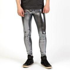 Hommes Brillant Lycra Leggings Mode Métallique Spandex Pleine Longueur Homme Meggings Leggings Collants pour Les Gars