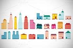 Check out Flat Design House Icons by VectorCat on Creative Market