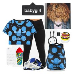 """""""School✌️"""" by flee-girl-on-point on Polyvore featuring adidas Originals, PhunkeeTree and Carmex"""