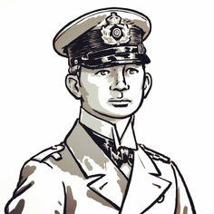 Een Duitse marineofficier uit de Eerste Wereldoorlog. Drawing, Art, Art Background, Kunst, Sketches, Performing Arts, Draw