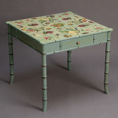 Faux Bamboo Decoupage Table From Carson and Co.