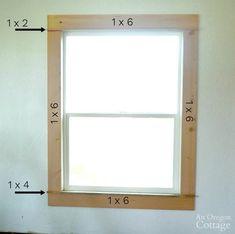 Window Molding Trim, Craftsman Window Trim, Interior Window Trim, Moldings And Trim, Window Trims, Diy Interior Trim, Wood Molding Trim, Moulding, Farmhouse Trim