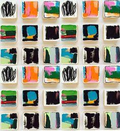 Original pintado arte de pared de bloque de madera | Pintura pared moderna escultura abstracta | Instalación de arte comercial #abstractart