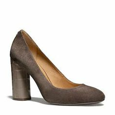 Sooo cute! Great for work. Coach - Ophelia Suede- Round Toe Pump
