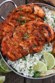 Grilled Tandoori Chicken – a classic Indian dish with bold spices! A 30 minute m… Grilled Tandoori Chicken – a classic Indian dish with bold spices! A 30 minute marinade makes this grilled dish SO easy and packed with FLAVOR! Tandoori Chicken Recipe Indian, Indian Chicken Recipes, Asian Recipes, Healthy Recipes, Indian Chicken Marinade, Tandoori Recipes, East Indian Food Recipes, Indian Chicken Dishes, Okra