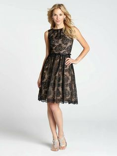 Retro styling combines with elegant lace to create one of the season's best evening dresses. Featuring a lovely pleated neck and flattering belted waist, our lace overlay dress will have you looking timelessly chic and ultimately feminine....3030103-0435