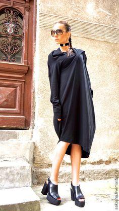 Купить Платье NEW Collection - черный, платье, платье летнее, черное платье в пол