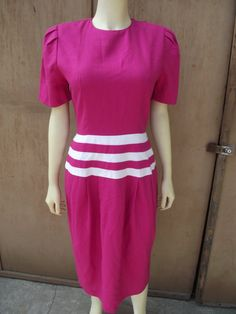 SALE Patty O'Neil Vintage pink 80's dress size 8 by ZOEYSVINTAGE, $10.00