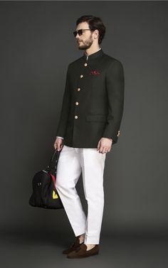 Statesman Burgundy Velvet Jodhpuri Suit - (Velvet, Cotton Trouser) - Fitted by A. Wedding Dresses Men Indian, Wedding Dress Men, Wedding Men, Wedding Suite, Wedding Attire, Green Suit Men, Olive Green Suit, Blazer Outfits Men, Stylish Mens Outfits