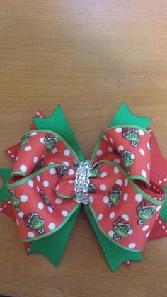 Grinch bow by Angelbabybowsandmore on Etsy, $6.00