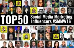 Get out there and follow these top 50 Social Media Marketing #Influencers