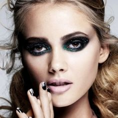 Glitter eyeshadow, Frohawks, Marni and geometric nails!