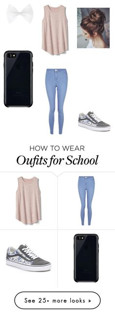"""""""Simple school day"""" by kiddoshooter on Polyvore featuring New Look, Gap, Vans and Belkin"""