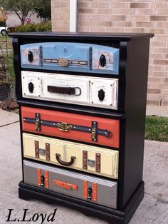 Painted with General Finishes Suitcase dresser