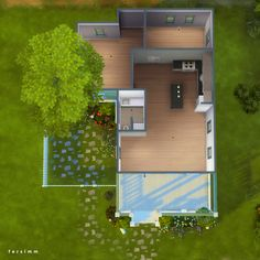 Sims 4 House Plans, Sims 4 House Building, Sims 4 Houses Layout, House Layouts, Sims 4 Challenges, Sims Freeplay Houses, Muebles Sims 4 Cc, The Sims 4 Packs, Sims 4 House Design