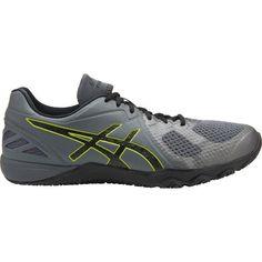Asics Conviction X - Mens Cross Training Shoes - Carbon/Black/Energy Green New Balance Minimus, Gel Cushion, Mens Crosses, Cross Trainer, Cross Training Shoes, Triple Black, School Shoes, Snug Fit