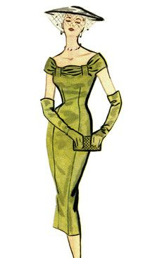 50s Dress Pattern-ultimate sophistication! Love this!!!