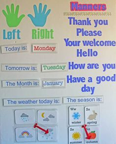 DIY Learning board for toddlers. Including concepts for manners, months, seasons, weather and of course sight words!