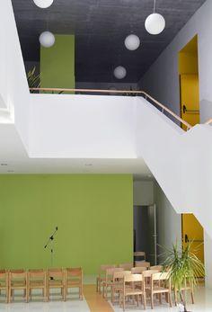 képek: Mustármag óvoda Id Design, School Architecture, Decoration, Loft, Furniture, Home Decor, Dibujo, Decor, Decoration Home