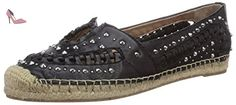 Sam Edelman  Liam, Espadrilles femmes - Noir - Schwarz (BLACK VAQUERO SADDLE LEA), Taille 38 EU - Chaussures sam edelman (*Partner-Link)