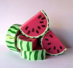 "Creative soap by Steso: Soap from scratch ""Watermelon"""