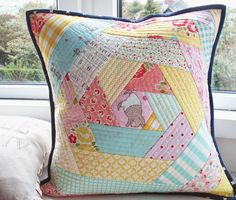 First if you missed our post on the upcoming book Quick Change, which we contributed three bed runners, check it out HERE. We& giving away an e-copy too :) FABRIC TUESDAY! Hexie Quilt-As-You-Go fro Patchwork Quilt, Patchwork Cushion, Patchwork Patterns, Quilted Pillow, Quilt Patterns, Funny Pillows, Cute Pillows, Diy Pillows, Decorative Pillows