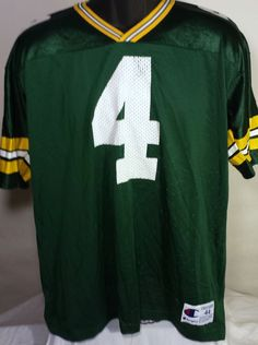 Vintage Green Bay Packers Brett Favre Mens Size 44 Champion Jersey Green  #Champion #GreenBayPackers