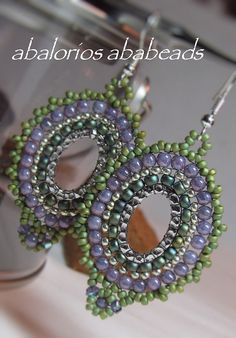 Aretes de Aros | by AbaBeads