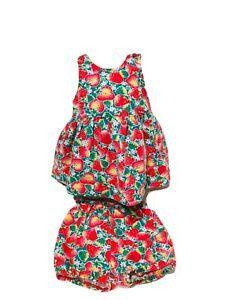 VTG Oshkosh Strawberry Print Dress With Matching Bloomer USA Baby B'Gosh RARE  | eBay Vintage Girls Dresses, Baby Girl Party Dresses, Usa Baby, Mod Dress, Overall Dress, Strawberry, Rompers, Ebay, Fashion