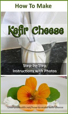 How To Make Kefir Cheese at home! Step by step instructions recipe – with photos, shows you how to make this beneficial, nutritious food from milk and Kefir grains. Yummy and healthy. Full of probiotics for improving health. Kefir Milk Benefits, Cheese Benefits, Kefir How To Make, How To Make Cheese, Healthy Food To Lose Weight, Healthy Foods To Eat, Healthy Eats, Healthy Life, Kefir Probiotic