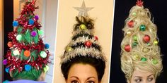 The Christmas-Tree Hair Trend Is Festive . . ??? Matter of opinion!