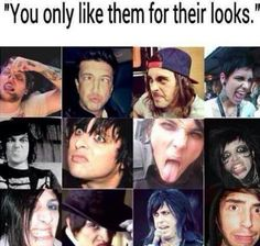 I don't see how this is a valid argument against liking them only for their looks