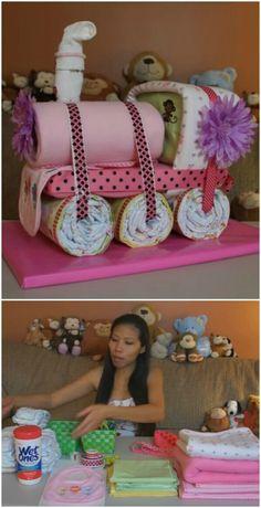 Choo Choo Train Diaper Cake