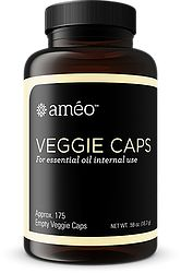AMÉO VEGGIE CAPS - Approx 175  Améo's natural, plant-based capsules allow you to experience the benefits of essential oils internally. You can easily customize your essential oil supplementation program according to individual needs and preferences.