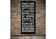 Vancouver Destination Roll / Subway Scroll / Tram by designomite, $199.00