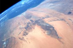 """The """"Eye of the Sahara"""" in Mauritania, Africa.  Taken August 28, 2013.  KN from space."""