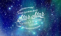 無料ダウンロード可、キラキラに輝く星テクスチャ素材セットまとめ