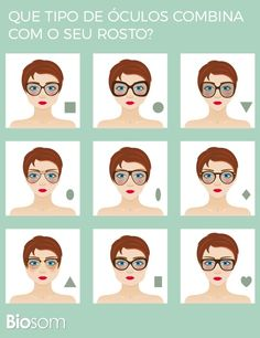 A escolha dos óculos é algo que sempre nos deixa em dúvida. Qual o melhor tipo de óculos pro meu rosto? Este é um dilema que envolve tempo, disposição e formato de rosto.A pessoa experimenta diversos modelos até encontrar um que se adapte ao formato do seu rosto e que também combine com você. #óculos #beleza #estilo #rosto #combinar