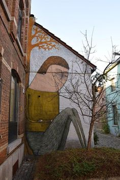 Street art in Leuven (Mussenstraat), Belgium, by artist Bisser. Photo by Bisser.