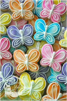 Butterfly Cookies (air brushed)