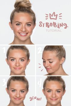 """Strobing: next level gorgeous for an enhanced natural glow. Here we've used LORAC Light Source Illuminating Highlighter. Start with light dab at the inner corner of the eye. Then sweep from the top of the brow across the temple and over the cheekbone, like drawing a """"C"""". Next, a light sweep down the bridge of the nose, and finish with just a touch at the upper lip and chin. Done with a light hand—always tap, tap the brush—the effect is simply stunning. Get (even more) gorgeous with Kohl's."""