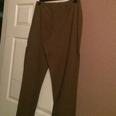 Brown pin striped pants Brown pin striped pants Ann Taylor Pants Straight Leg