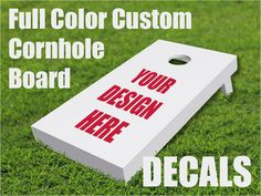 Pair of Full Color Custom Cornhole Board Decals  Sports