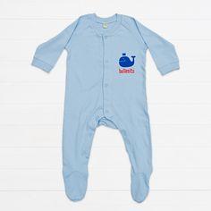 ballenito pyjama, dusty blue, organic cotton Dusty Blue, Kind Mode, Wetsuit, Organic Cotton, Pajamas, Sweatpants, Artwork, Swimwear, Fashion