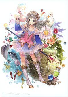 The awesomeness that is the Atelier series! Anime Neko, Kawaii Anime, Manga Anime, Anime Girl Cute, Anime Art Girl, Game Character Design, Character Art, Anime Fantasy, Fantasy Art
