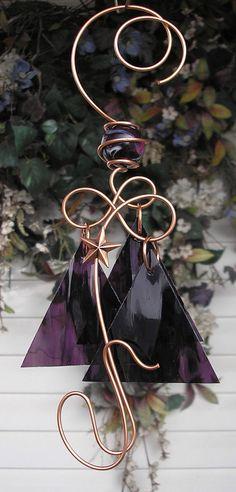 Starlight Star Wind Chimes Copper Garden Art