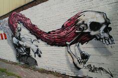 The Certified Optimist #skull #art #graffiti #InkedMagazine